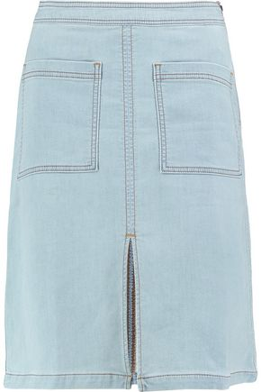 SPLENDID Split-front denim skirt