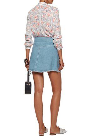 10 CROSBY DEREK LAM Knitted cotton mini skirt