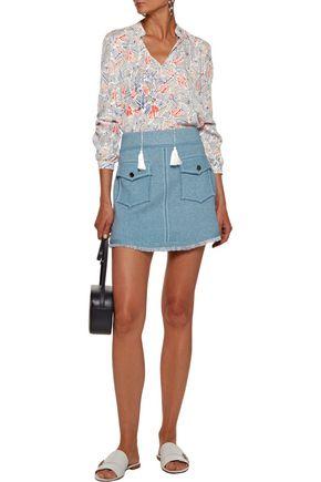 DEREK LAM 10 CROSBY Knitted cotton mini skirt