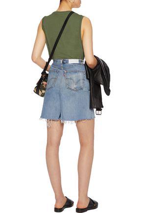 RE/DONE + Levis distressed denim mini skirt