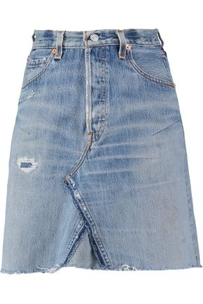 RE/DONE + Levis distressed denim mini skirt