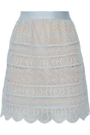 ZIMMERMANN Bell crochet-paneled broderie anglaise organza mini skirt