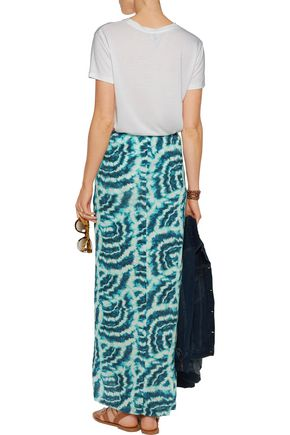 VIX Vilma printed stretch satin-jersey maxi skirt