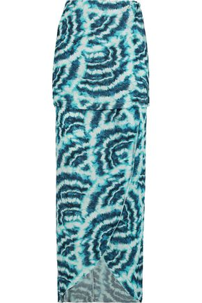 VIX PAULAHERMANNY Vilma printed stretch satin-jersey maxi skirt
