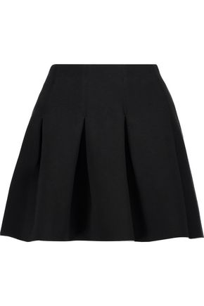 T by ALEXANDER WANG Pleated neoprene mini skirt