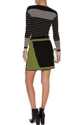 CHRISTOPHER KANE Studded wool-crepe skirt