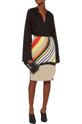 EMILIO PUCCI Wrap-effect printed crepe skirt