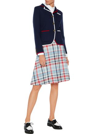 THOM BROWNE Plaid crepe skirt