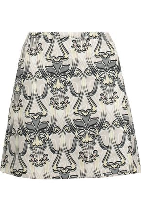M MISSONI Wrap-effect printed faille mini skirt