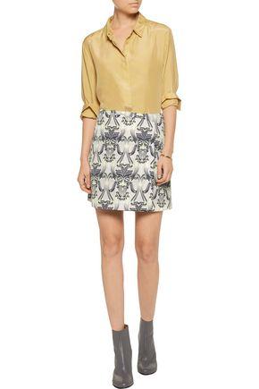 M MISSONI Wrap-effect printed faille mini skirt
