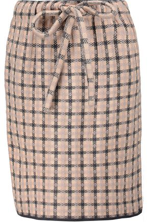 M MISSONI Plaid stretch-knit mini skirt