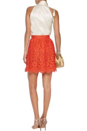 VALENTINO Guipure lace mini skirt