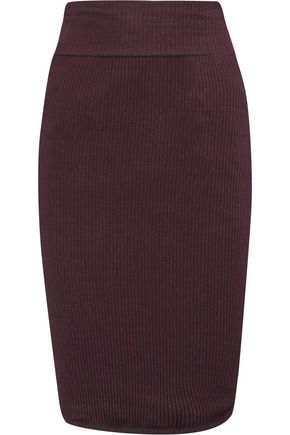 ENZA COSTA Ribbed-knit mini skirt
