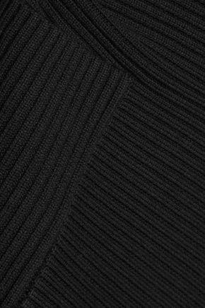 TIBI Asymmetric ribbed merino wool skirt