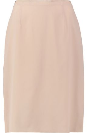 AGNONA Silk-blend crepe pencil skirt