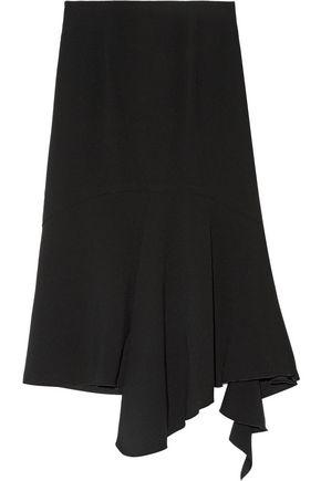 GOEN.J Asymmetric ruffled silk-crepe skirt