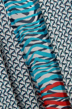 DIANE VON FURSTENBERG Valenti printed silk-chiffon midi skirt