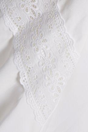 STELLA McCARTNEY Carine lace-paneled cotton-blend maxi skirt