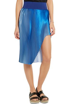 STELLA McCARTNEY Manny plissé-satin skirt