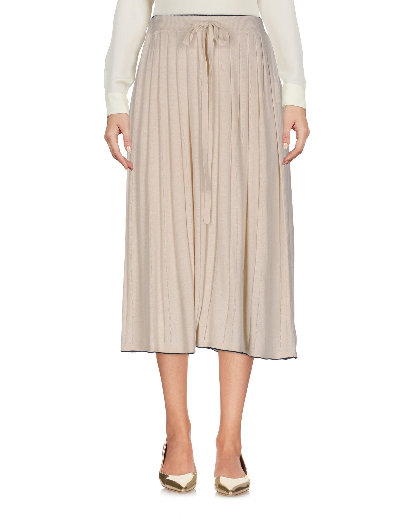 YOSHI KONDO Midi Skirts in Beige