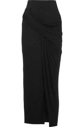 BAILEY 44 Wrap-effect stretch-jersey maxi skirt