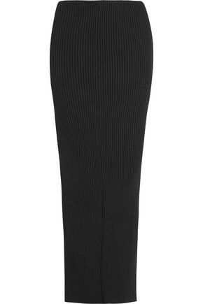 VETEMENTS Split-back ribbed-knit maxi skirt