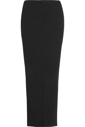 VETEMENTS Split-back ribbed-knit maxi skirt