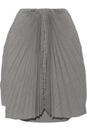 FACETASM Pleated gingham wool skirt