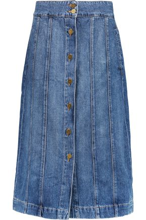 FRAME Le Panel denim skirt
