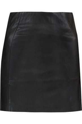 McQ Alexander McQueen Faux leather and stretch-jersey mini skirt