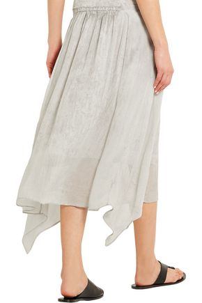 RAQUEL ALLEGRA Printed silk-georgette skirt