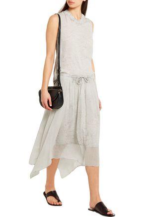 RAQUEL ALLEGRA Printed silk-georgette skirt