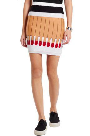 MOSCHINO Intarsia wool mini skirt