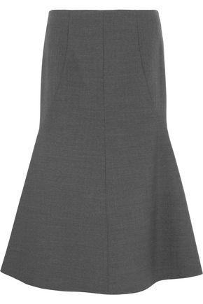 STELLA McCARTNEY Flared stretch-wool midi skirt