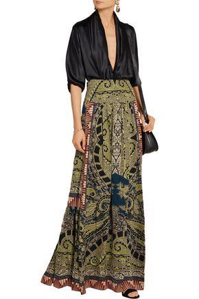 ETRO Paisley-print silk maxi skirt