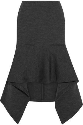MARNI Double-faced wool-blend jersey skirt