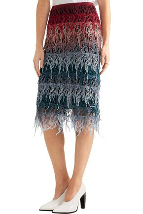 GABRIELA HEARST Leigh tiered cotton-lace skirt