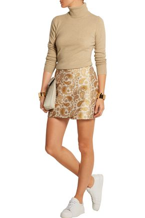 STELLA McCARTNEY Beth paisley cotton-blend jacquard mini skirt