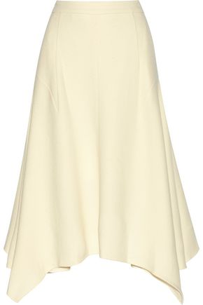 STELLA McCARTNEY Emma asymmetric wool-blend crepe skirt