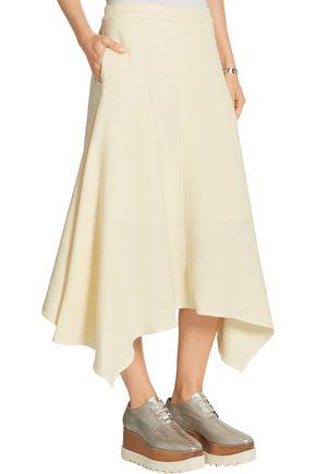 STELLA McCARTNEY Emma asymmetric wool-blend crepe skirt
