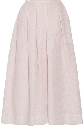 ROCHAS Pleated cloqué midi skirt