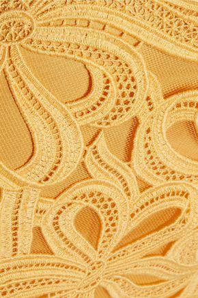 ROCHAS Macramé lace and tulle midi skirt