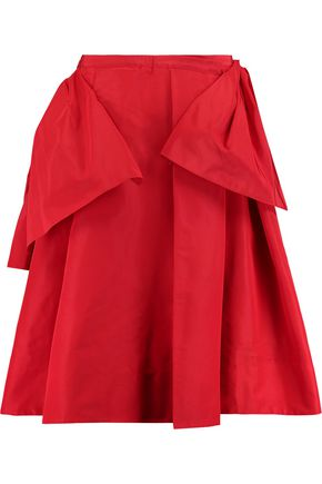 ROCHAS Layered pleated satin-twill skirt