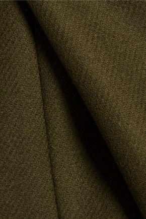 ROCHAS Wool blend-felt midi skirt