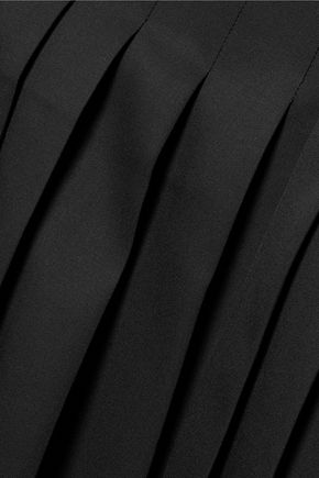 ROCHAS Pleated wool midi skirt