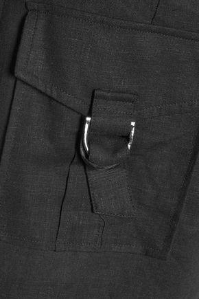 ZIMMERMANN Linen-blend midi skirt