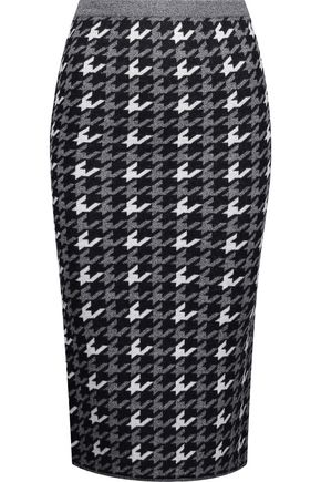 ALICE + OLIVIA Delphie printed wool skirt