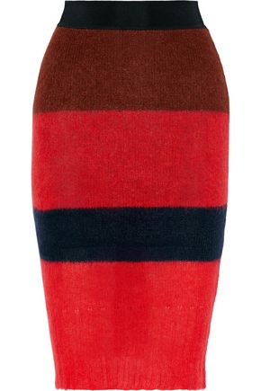 RAG & BONE Petra striped knitted skirt