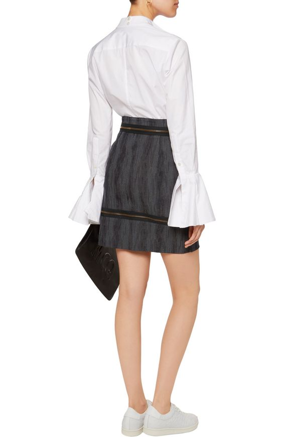 Zip-embellished cotton-blend jacquard mini skirt | VIVIENNE WESTWOOD  ANGLOMANIA | Sale up to 70% off | THE OUTNET