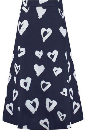 ÊTRE CÉCILE Printed jersey midi skirt